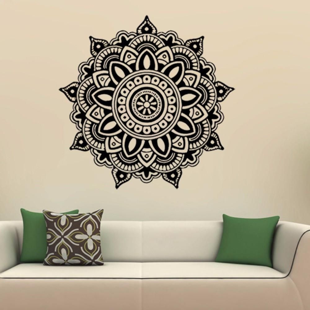 Bohe Mandala Flower Wall Paper Decor Yoga Studio Vinyl: Mandala Flower Wall Stickers Indian Bedroom Wall Art