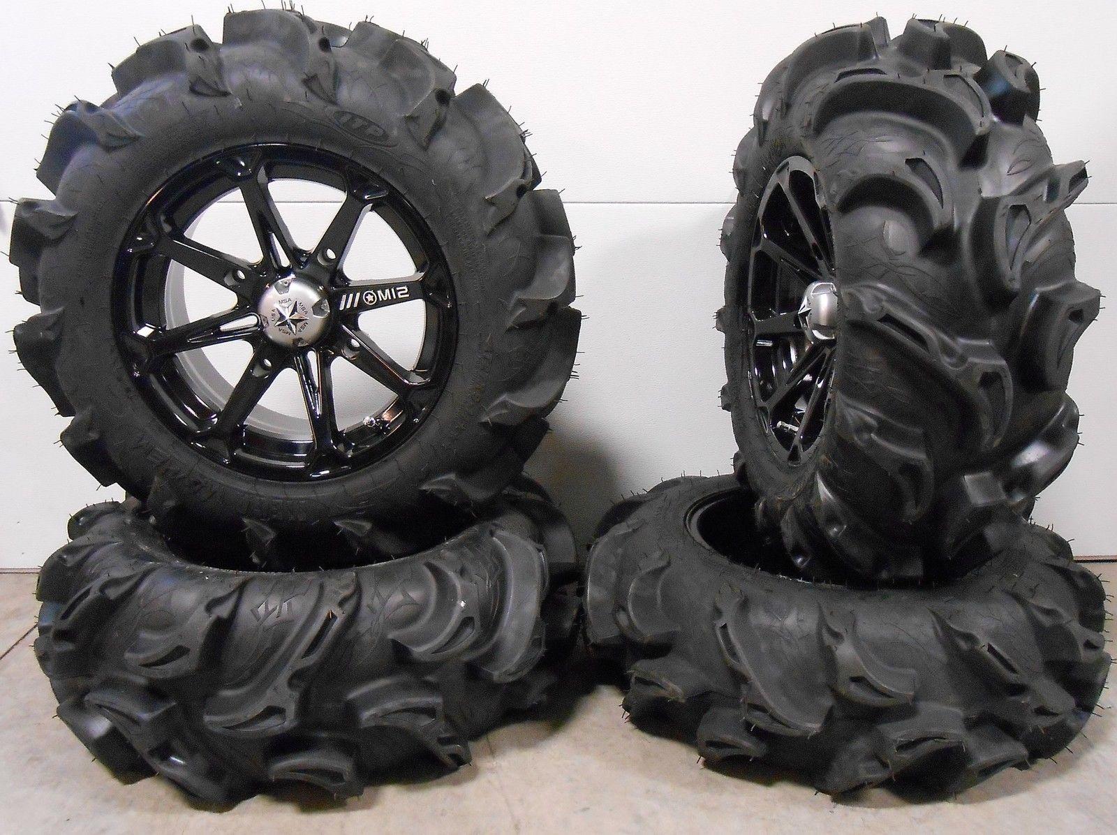 Msa Black Diesel 14 Atv Wheels 27 Mega Mayhem Tires Honda Foreman Rancher Sra Ebay Atv Wheels Black Diesel Best Tire Shine