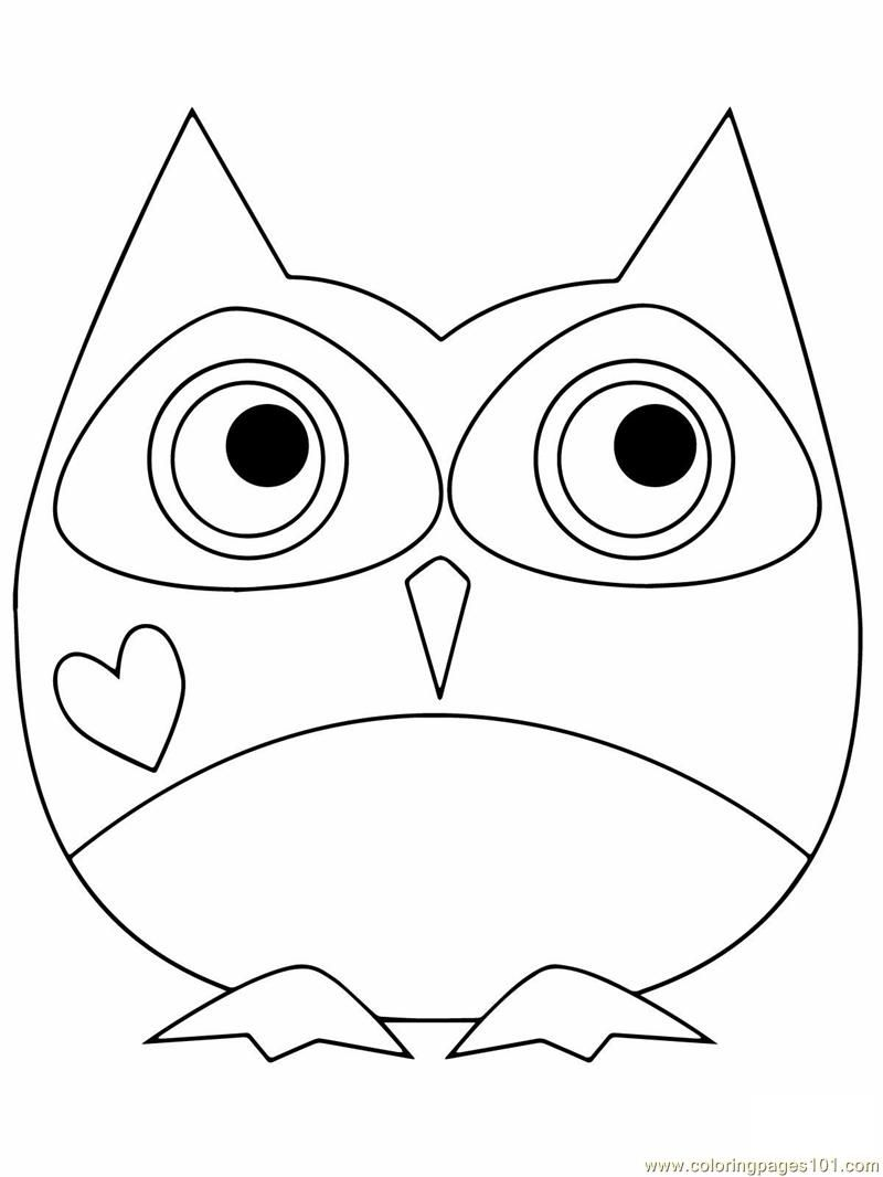 owl coloring pages free printable coloring page owl birds owl - Cute Owl Printable Coloring Pages
