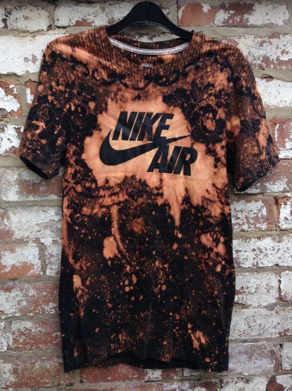 72d9c4c9 Nike Air Acid Wash Tie Dye Tee - festival music band, vintage 90s ...