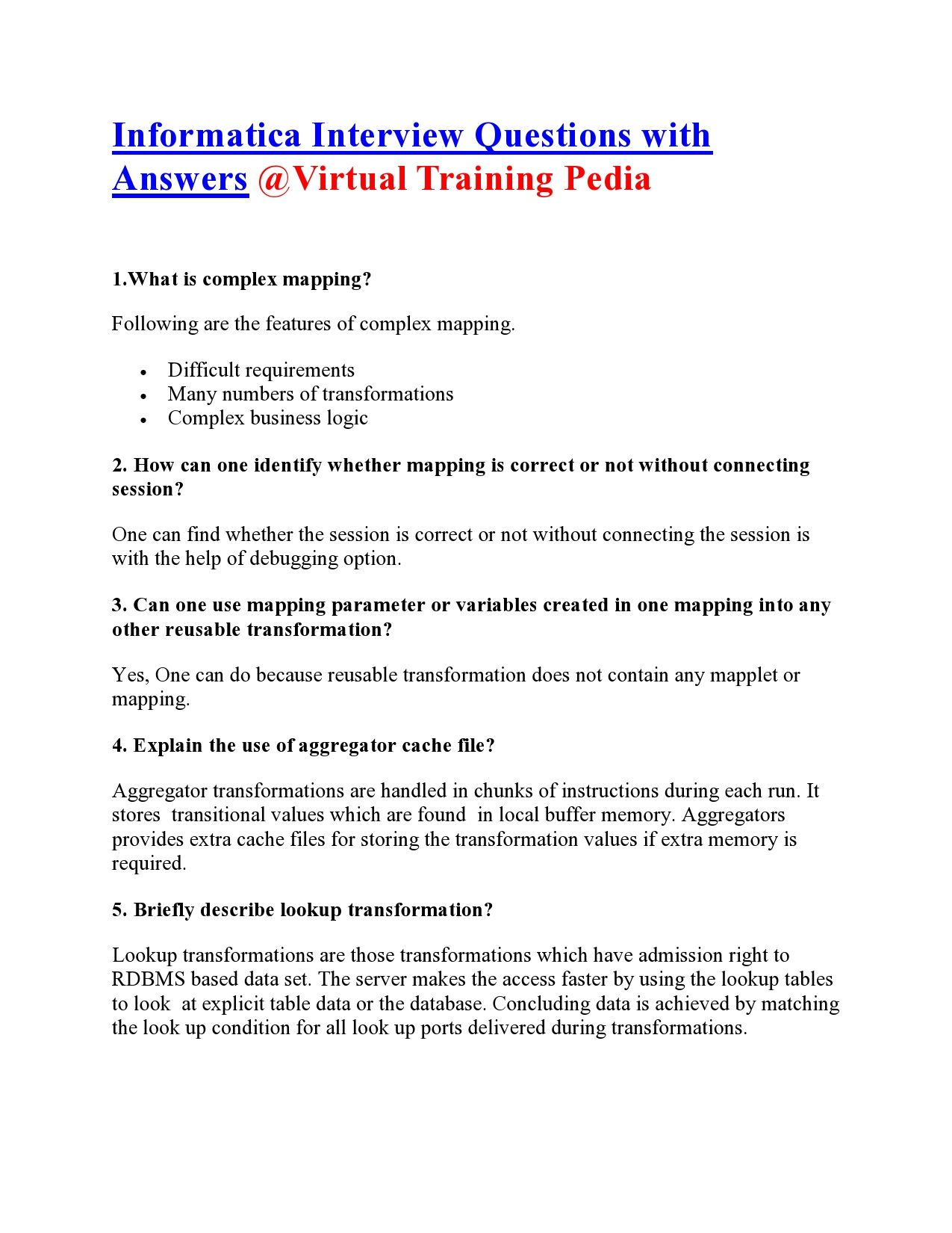 Pin by Informatica Online Training on Interview Questions