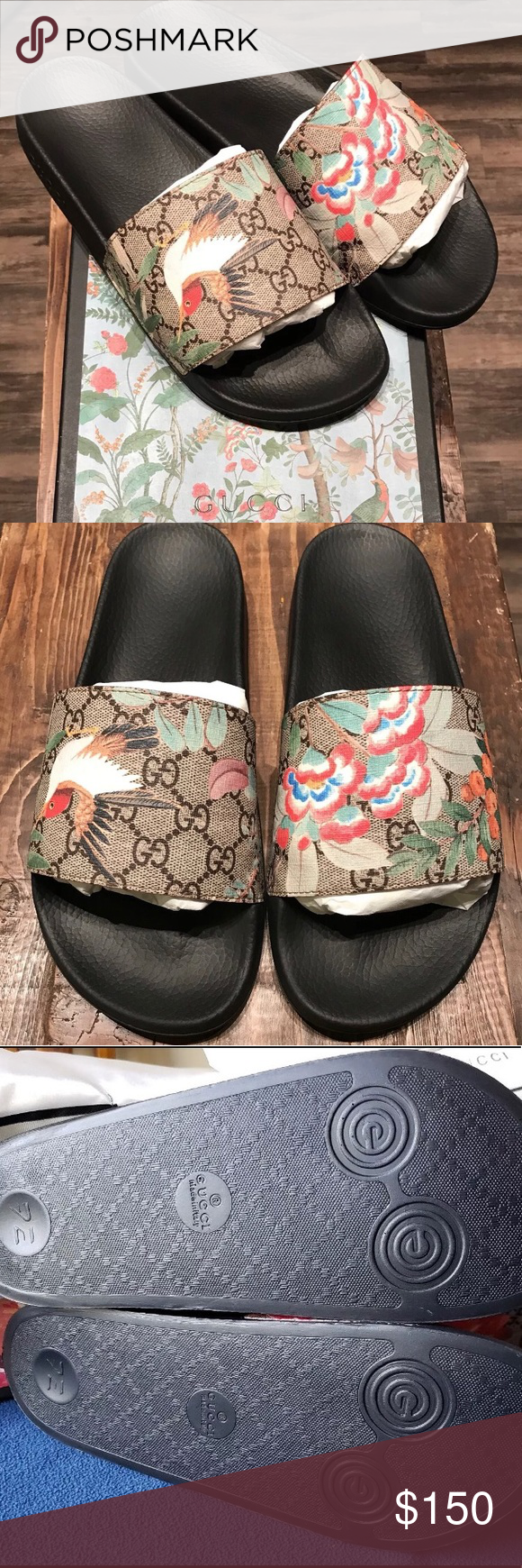 4796a2d56 Gucci Tian Slides Authentic Gucci Tian Slides. Brand new with box and in  perfect condition. Size 10. Shoes Sandals   Flip-Flops