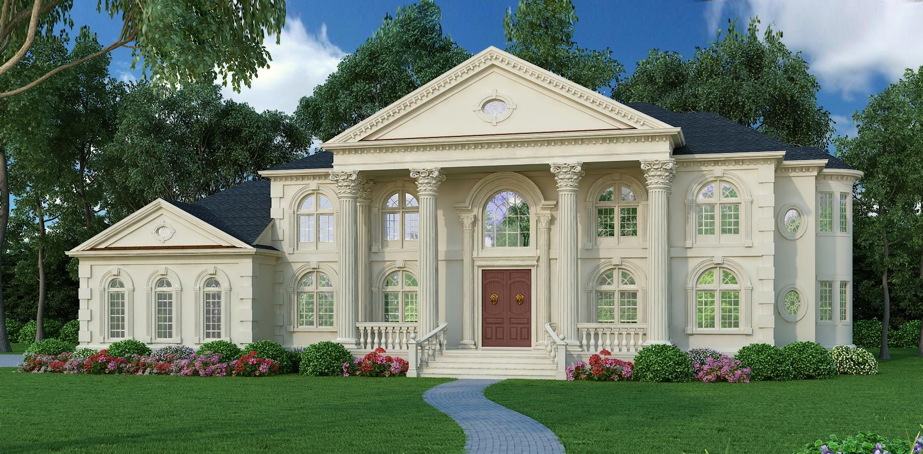 Colonial With 5 Bedrooms And 4 5 Baths House Plan 8079 Direct From The Designers Colonial House Plans Luxury House Plans House Plans