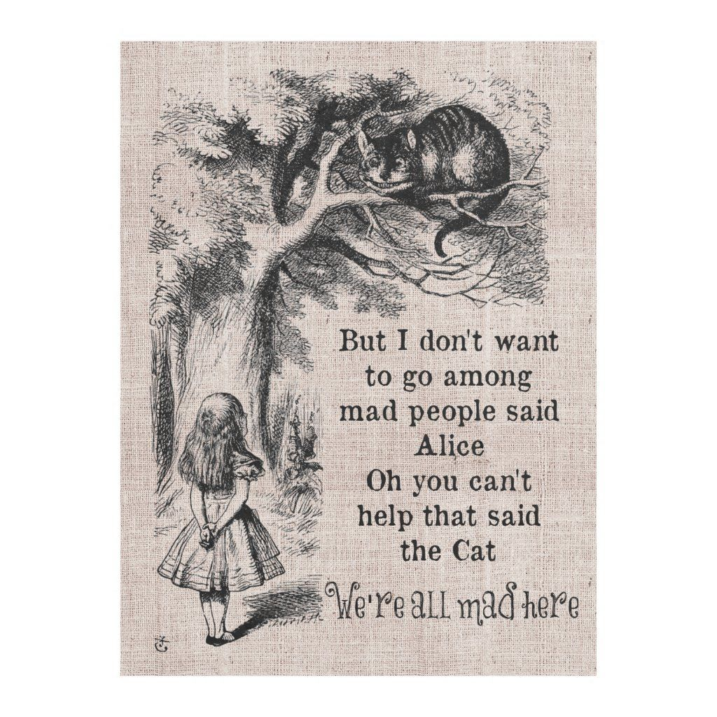 Personalized Alice in Wonderland Throw Blankets - Alice in...