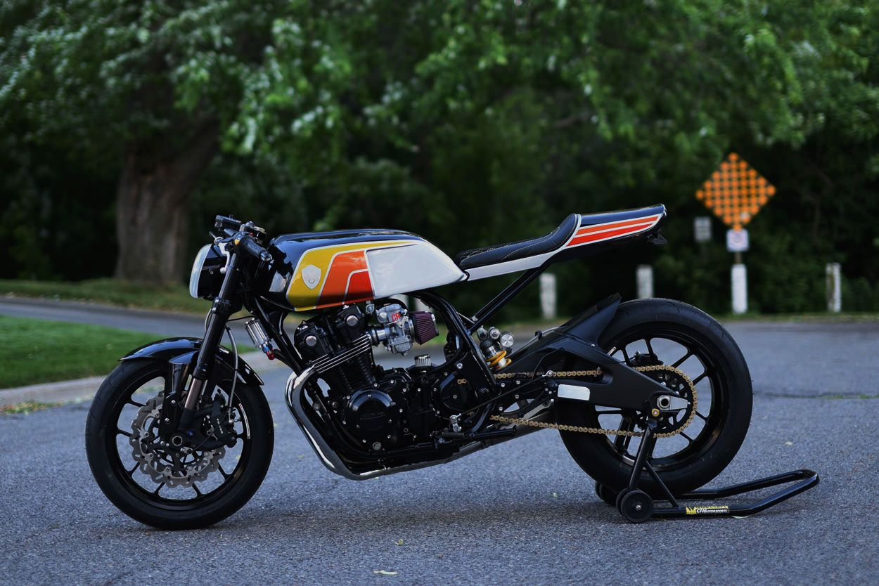 jaw dropper a gnarly honda cb from the 80s honda cafe racers