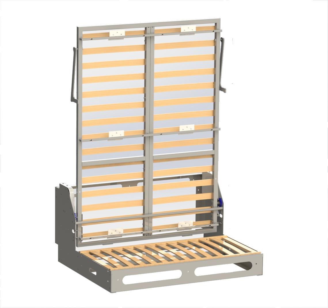 Construire Un Meuble Lit Grand Confort Avec Un M Canisme De Lit  # Mecanisme Pour Tele Escamotable