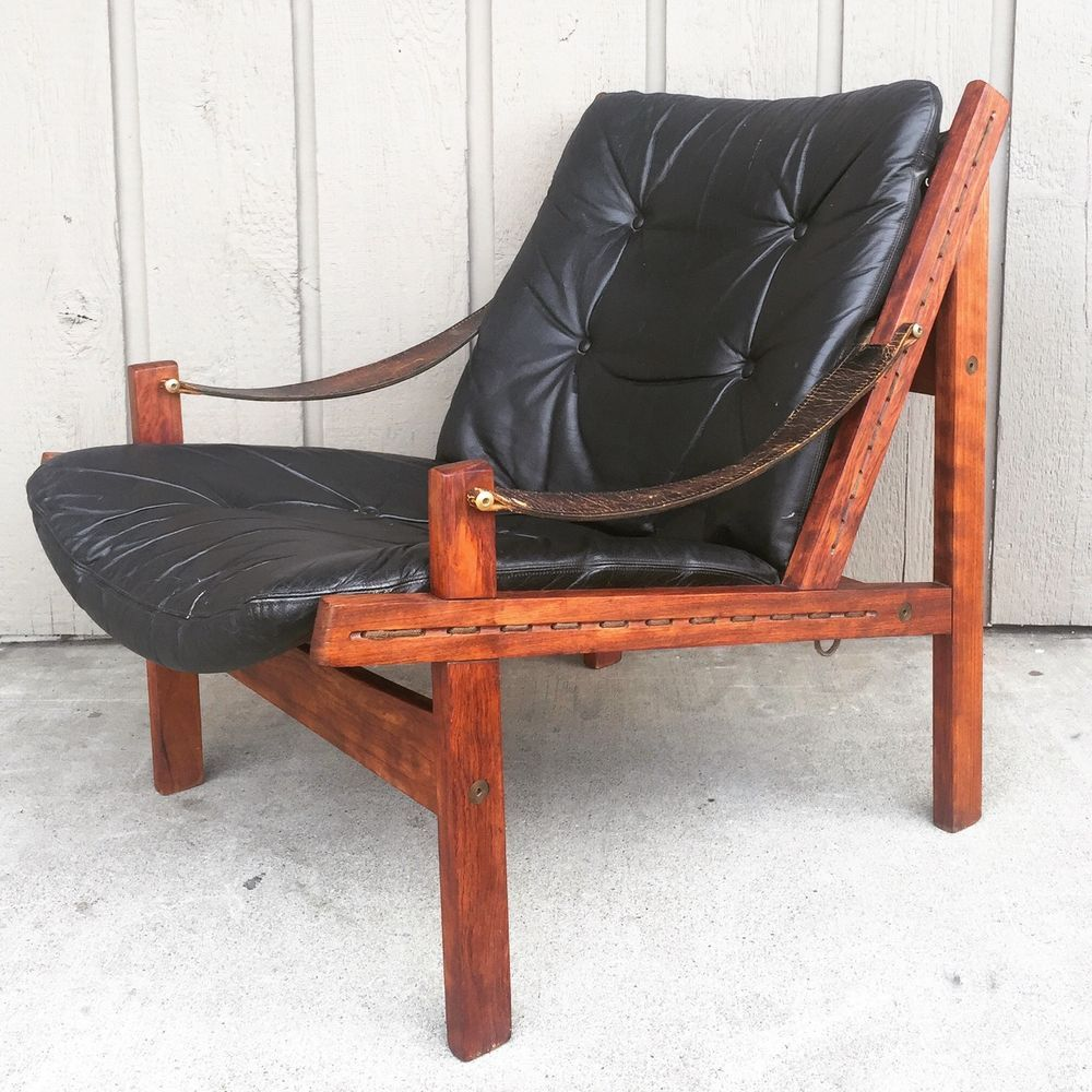 Price reduced sturdy wooden vintage rocking chair made in yugoslavia - Torbjorn Afdal Bruksbo Norway Rosewood Mid Century Modern Hunter Chair Safari