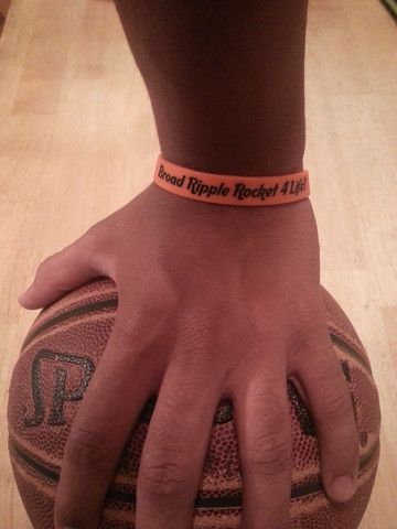 Broad Ripple Rocket 4 Life Rubber Wristband Indiana Basketball
