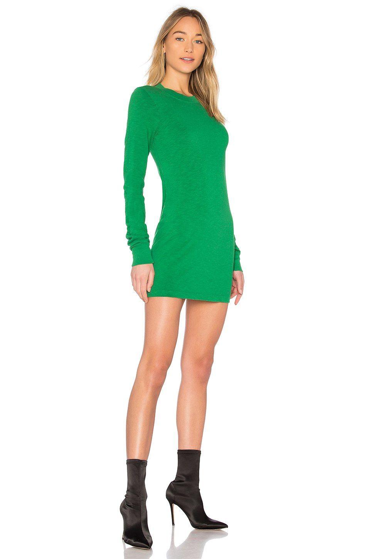 Cotton Citizen The Tokyo Mini Dress In Kelly Green Revolve