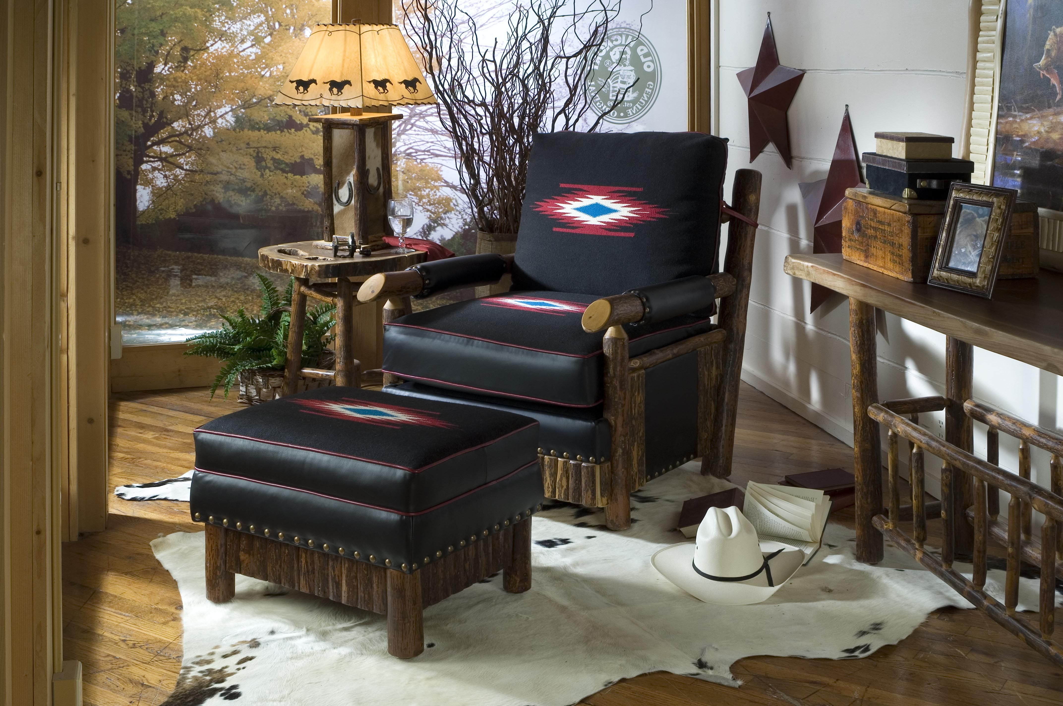 Brilliant Western Style Chairs And Ottomans From The Western Home Unemploymentrelief Wooden Chair Designs For Living Room Unemploymentrelieforg