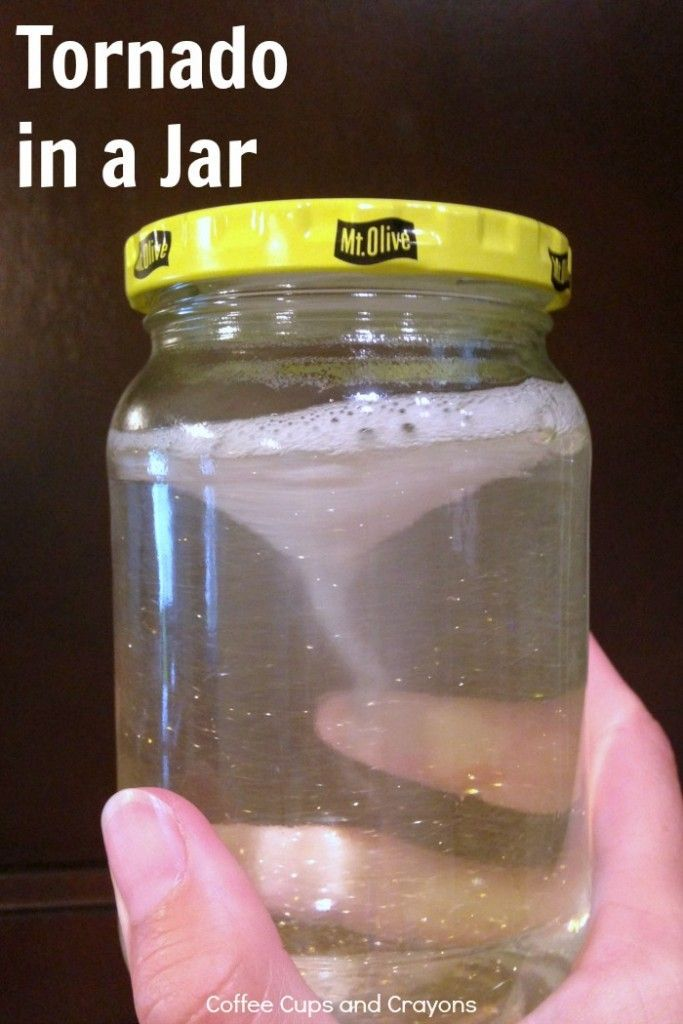 Tornado In A Jar Science Experiment Science Experiments Kids