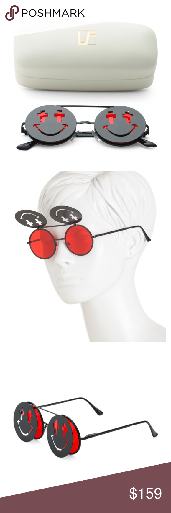 JEREMY SCOTT x LINDA FARROW Sunglasses Smile Clip Brand