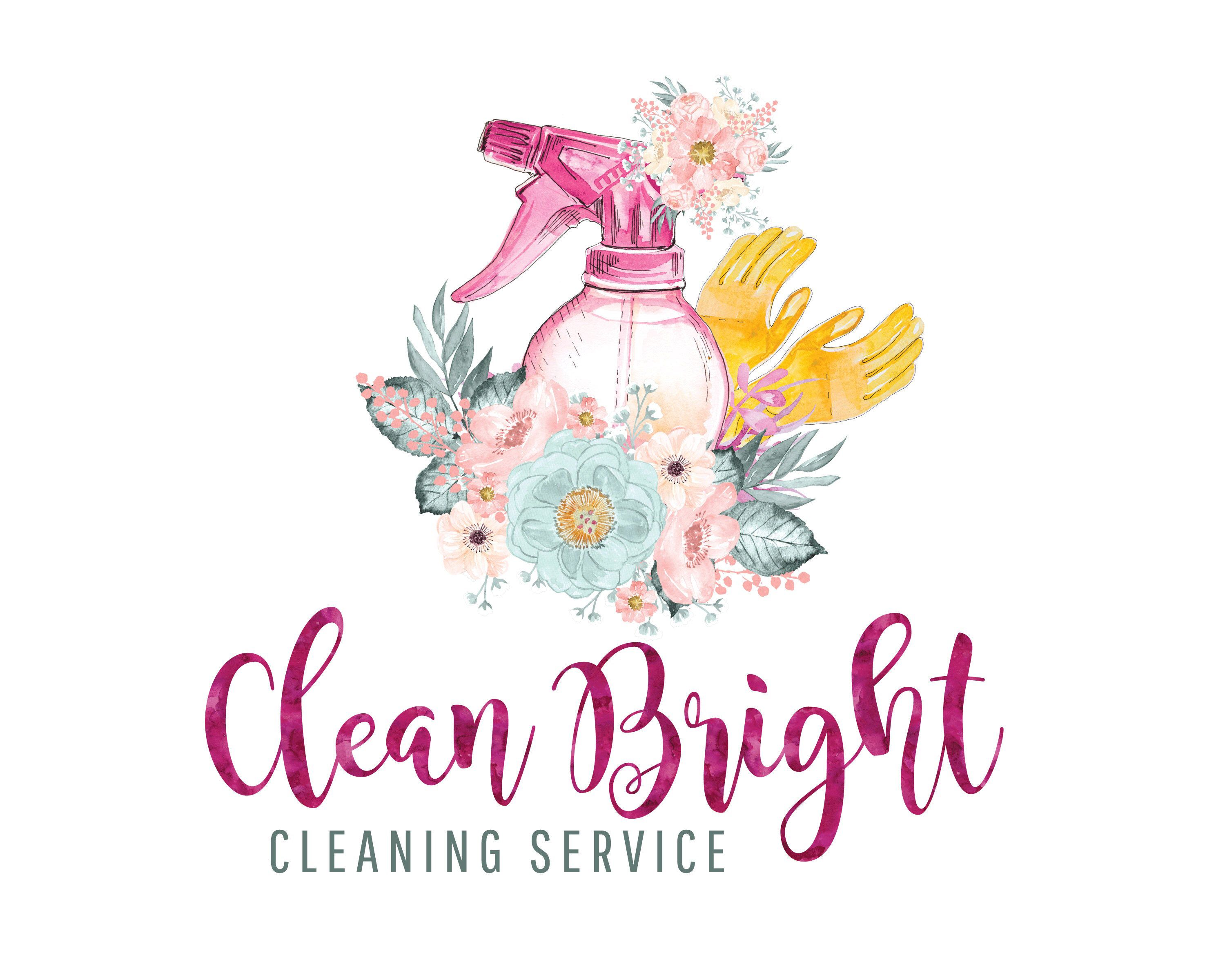 Cleaning Logo Maid Logo House Cleaning Service Logo Cleaner Logo Floral Logo Office Cleaning Logo Branding Clean Logo Cleaning Lady Cleaning Service Logo Cleaning Logo Cleaners Logo