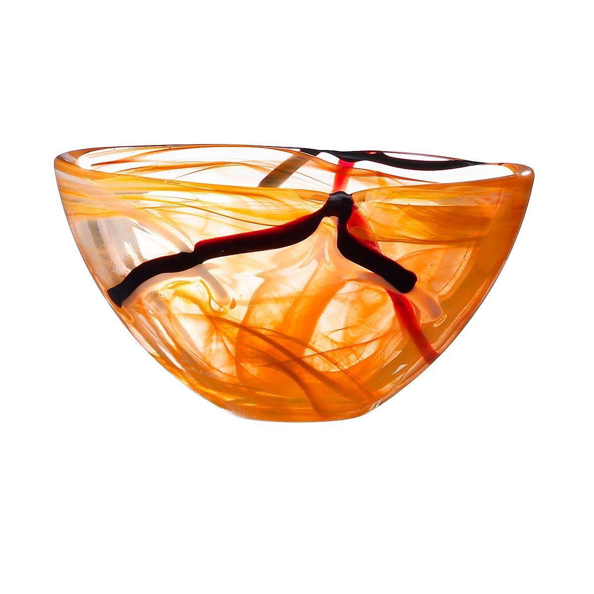 kosta boda contrast bowl orange  bloomingdales  objects i love  - kosta boda contrast bowl orange  bloomingdales