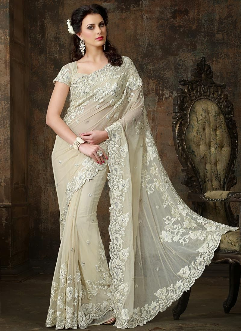The samecolour embroidery looks beautiful esp in ivory