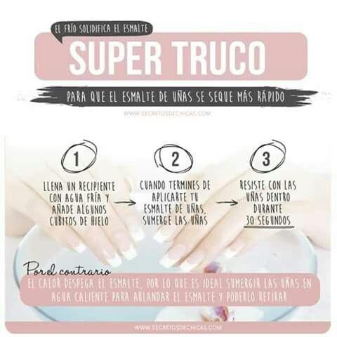 Tip Para Secar Súper Rápido Tus Uñas Y Funciona Genial