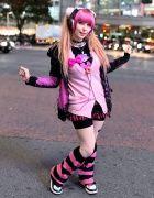 Yuriko Tiger in Shibuya w/ Pink Hair, Super Lovers & 6%DOKIDOKI