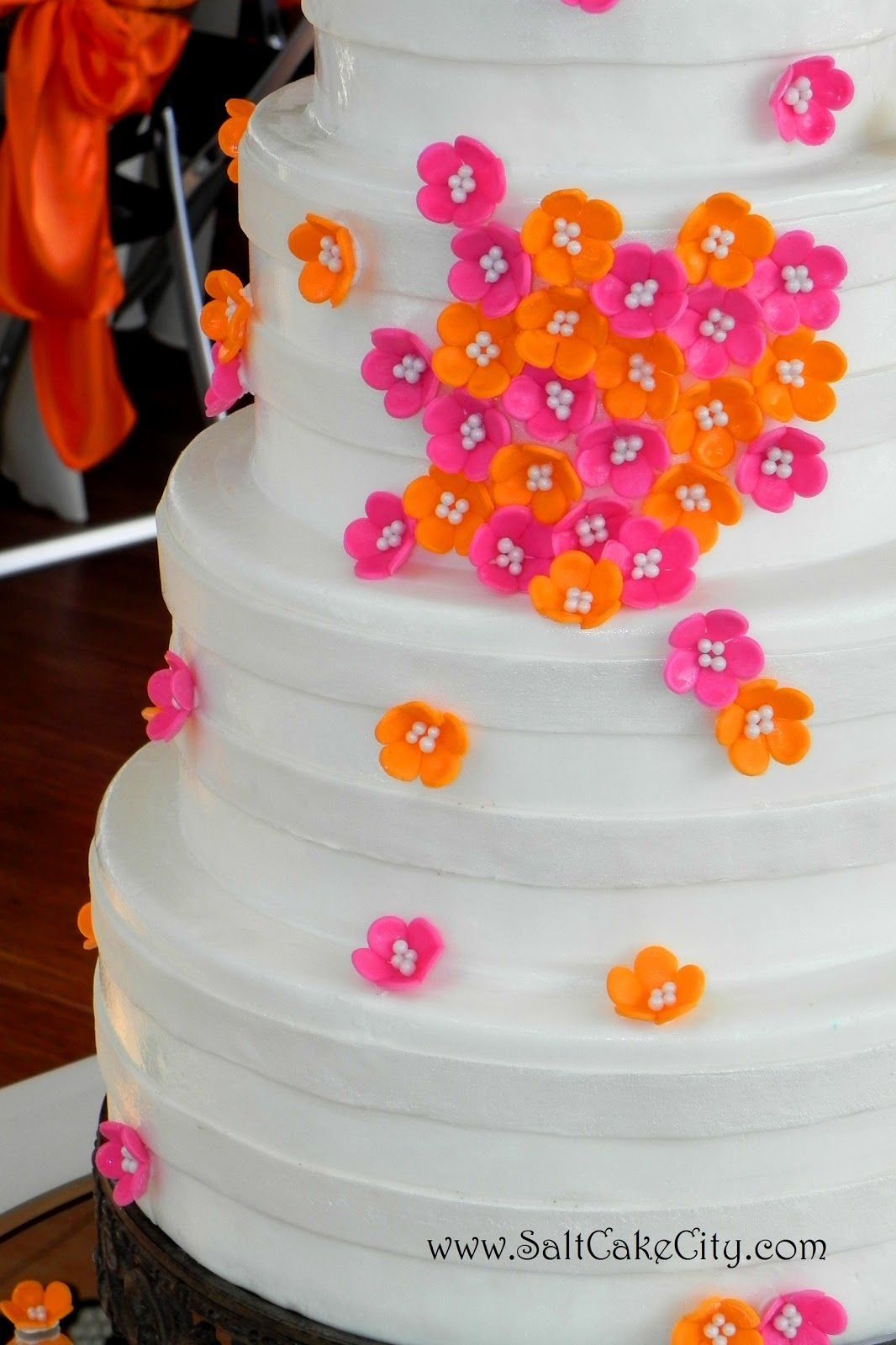 Salt Cake City Pink Orange Cluster Wedding