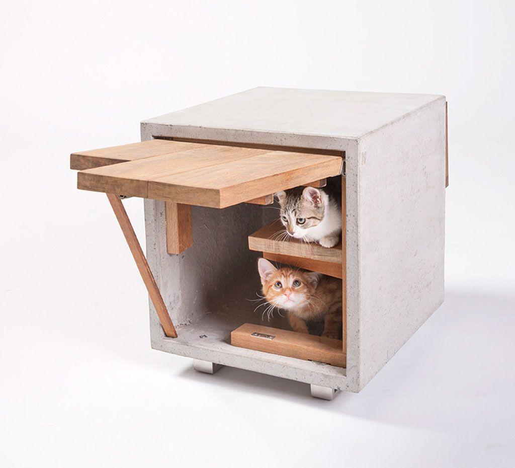 14 Inspiring Custom-Built Modern Cat Houses Revealed at LA Fundraising Event - : & 14 Inspiring Custom-Built Modern Cat Houses Revealed at LA ...