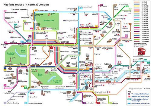 Plan De Londres Metro Avec Monuments