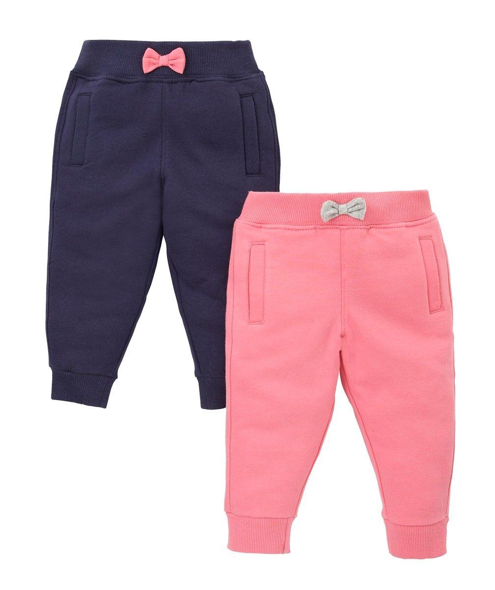 c1f713fc4 Mothercare Jogger Puño Marino/Chicle - Avance Bebé Niña Otoño/Invierno -  Moda infantil