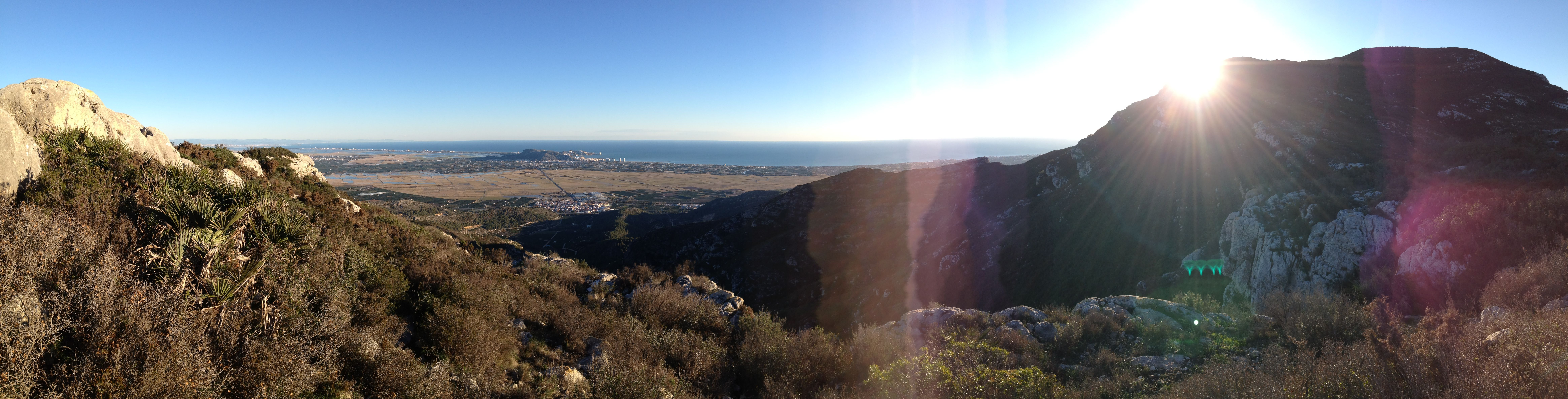 El Marssalari vist des de el Pic de la Mola (Favara, Valencia)