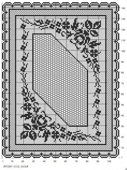 Tischdecke Eckig Häkeln Crochet Crochetédiverses Pinterest