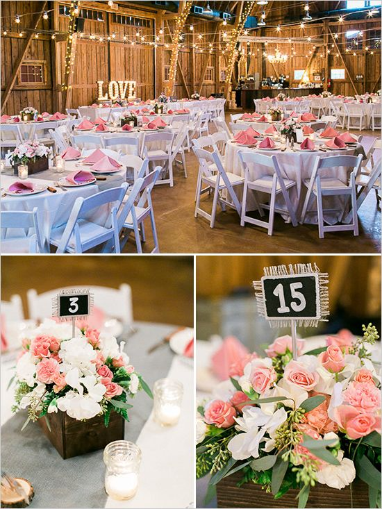 Pink rose garden wedding rose weddings and wedding rustic wedding ideas with rose flower box displays weddingchicks junglespirit