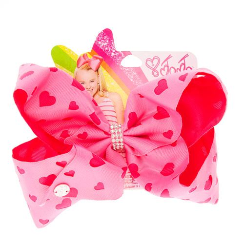 8 inch JoJo Bow Hairpins Girl Clip Kids/' Multi-color Dot Hearts Hair Accessories