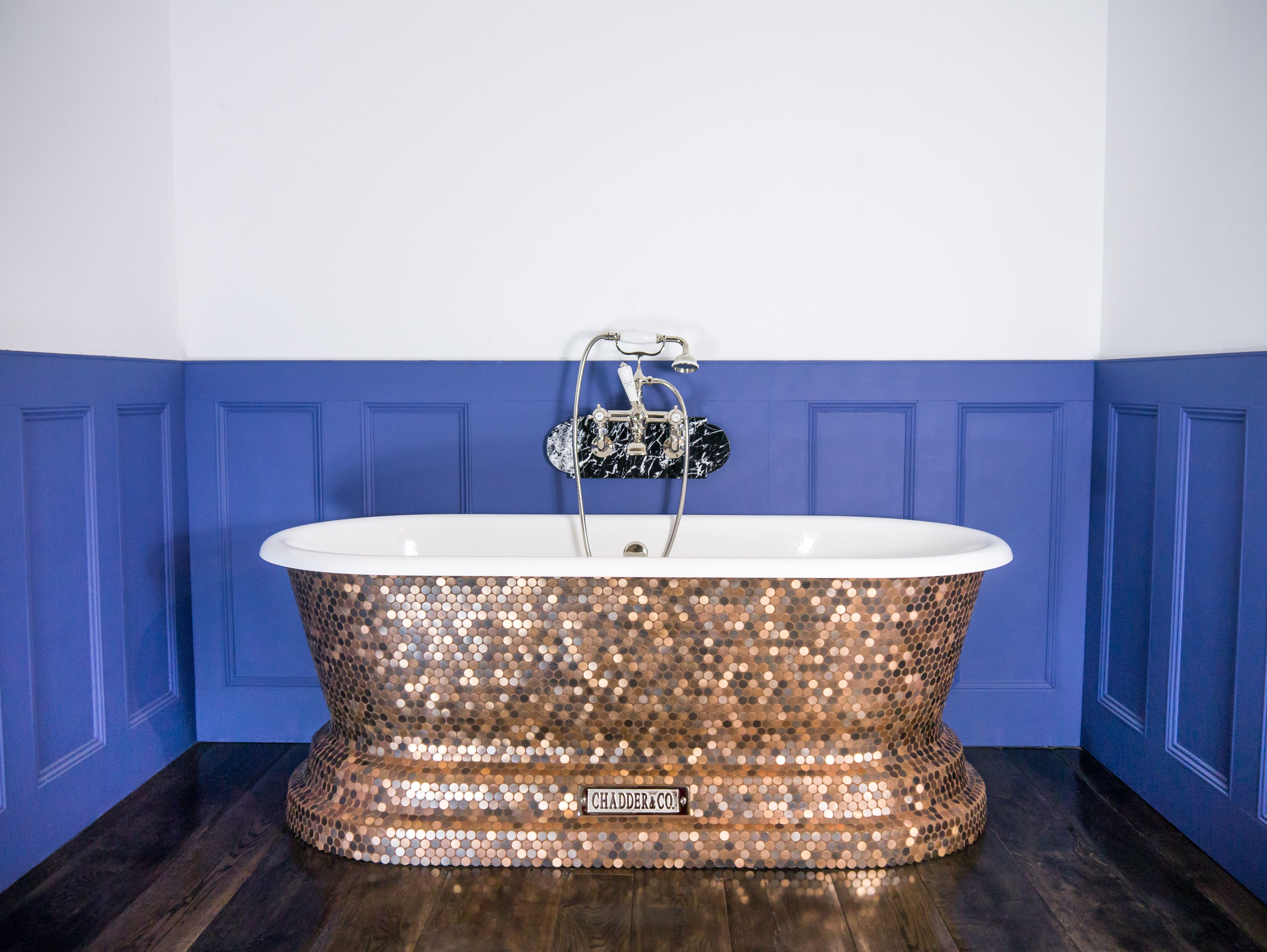 Brand new. Our Pennies from Heaven Churchill Bath, covered in penny ...
