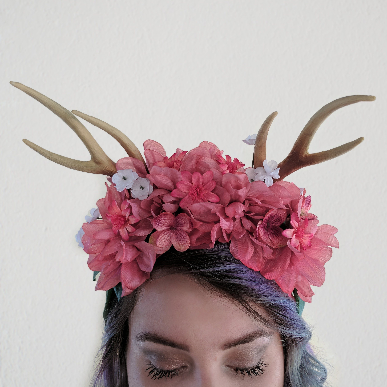 Vren Fawn Rose Gold Flower Crown Pink Gothic Fairy Fleur Crown
