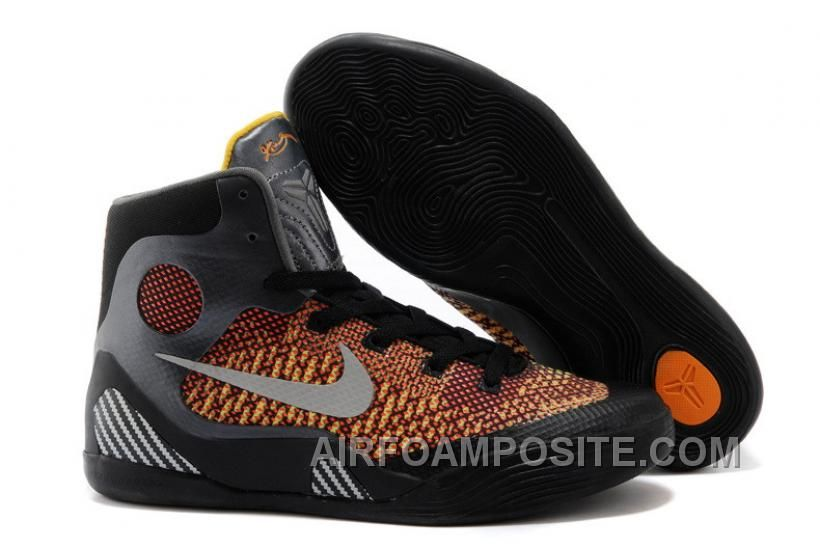 Hot Mens Kobe 9 Orange Grey Black