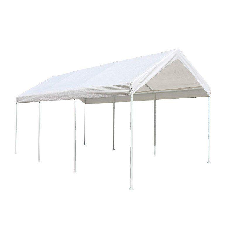 Aleko 20 X 10 Ft Gazebo Carport Steel Frame Steel Canopy Canopy