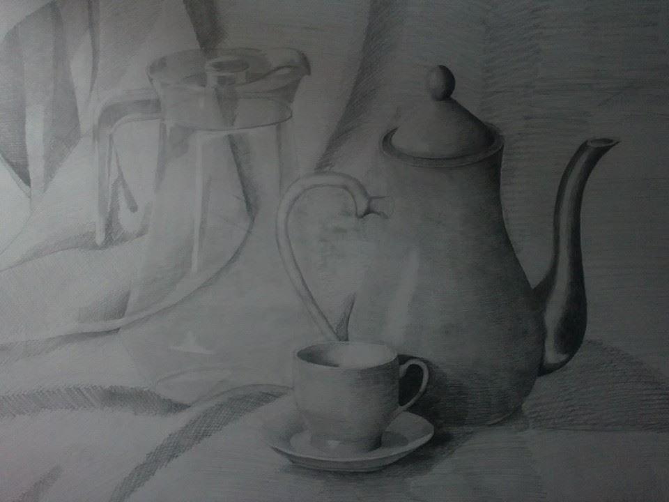 portrait avec crayon blanc sur papier noir oulmi hocine Pinterest - pose papier a peindre