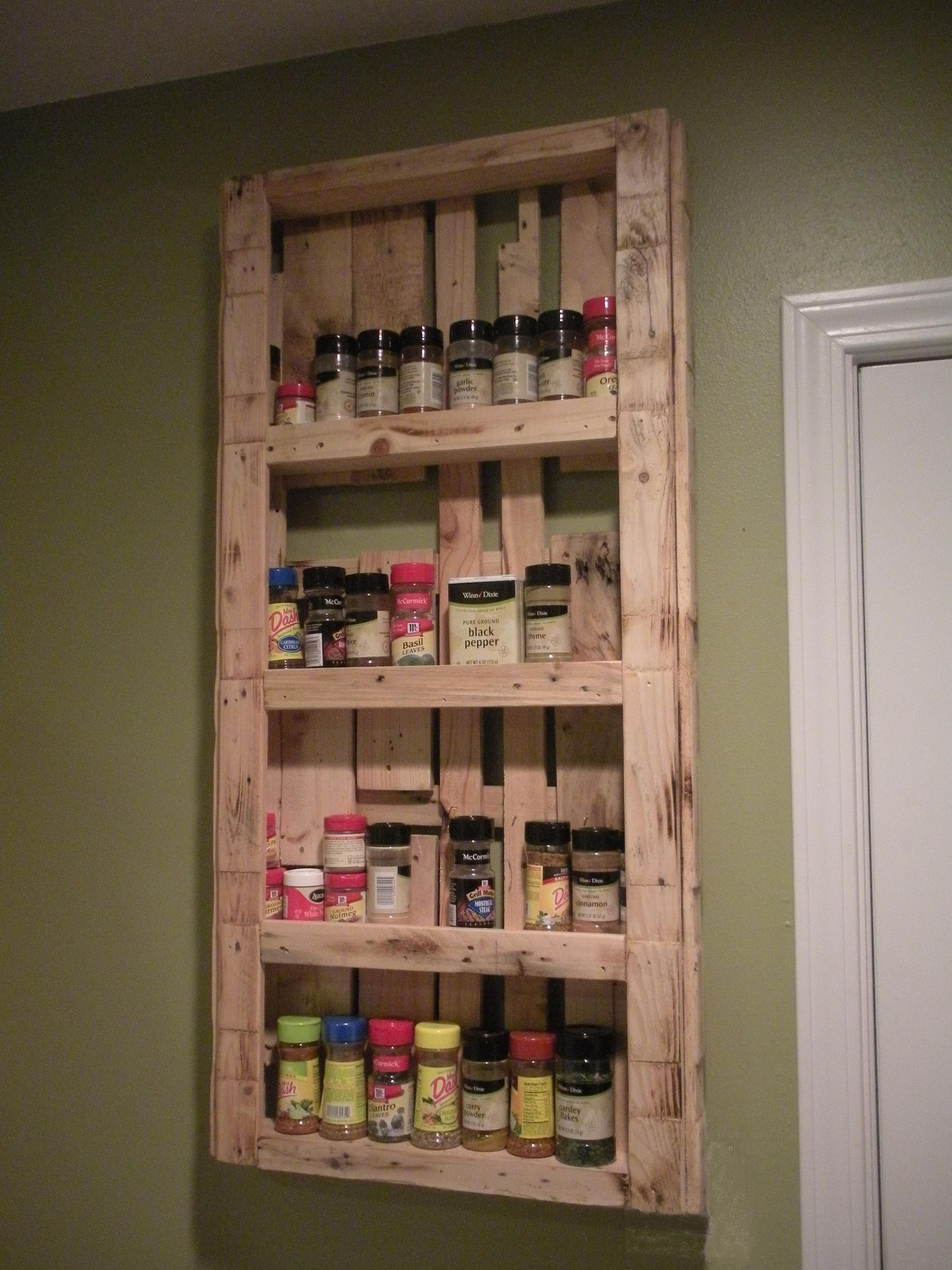 My spice rack made from pallets Palletable Designs