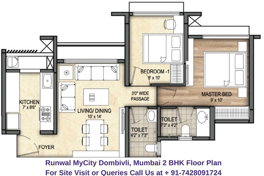 Sales 7428091724 Runwal Mycity Offers 2 Bhk Unique Well Crafted Apartments With All The Modern Amenities The Carpet Area In 2020 With Images Floor Plans Spacious All Modern