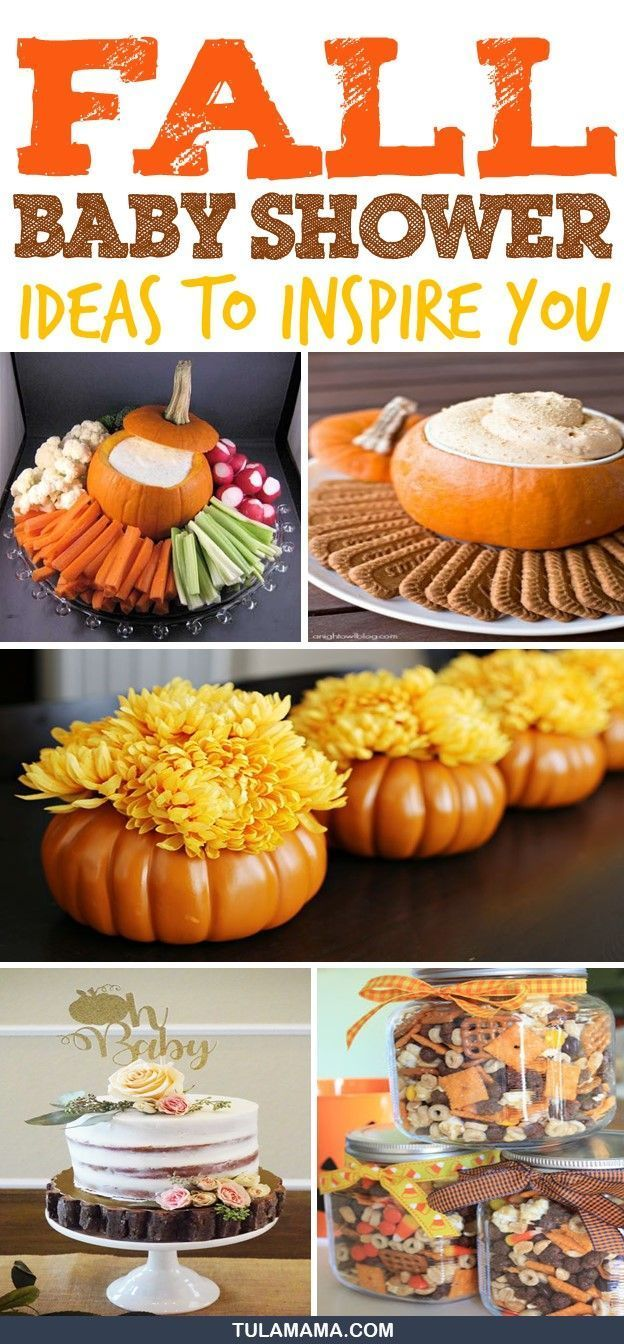 Baby Shower Ideas To Inspire You Fall Baby Shower Theme Ideas. Click to find fun decorations and food ideas and recipes for your Autumn Baby Shower.  Also find rustic ideas for favors, your baby shower cake, cupcakes, cookies, centerpieces, prizes and invitations for boy and girl showers. Pin it.Fall Baby Shower Theme Ideas. Click to...
