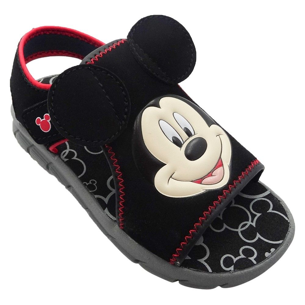 dacff5e5888a Disney Toddler Boys  Mickey Mouse Footbed Sandals - Black M