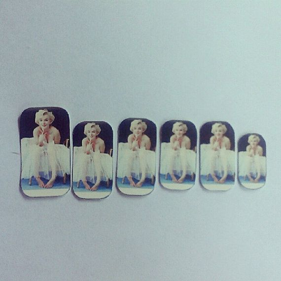 Marilyn Monroe Nail Decals by wearbyclaire on Etsy, $6.00 | Women\'s ...
