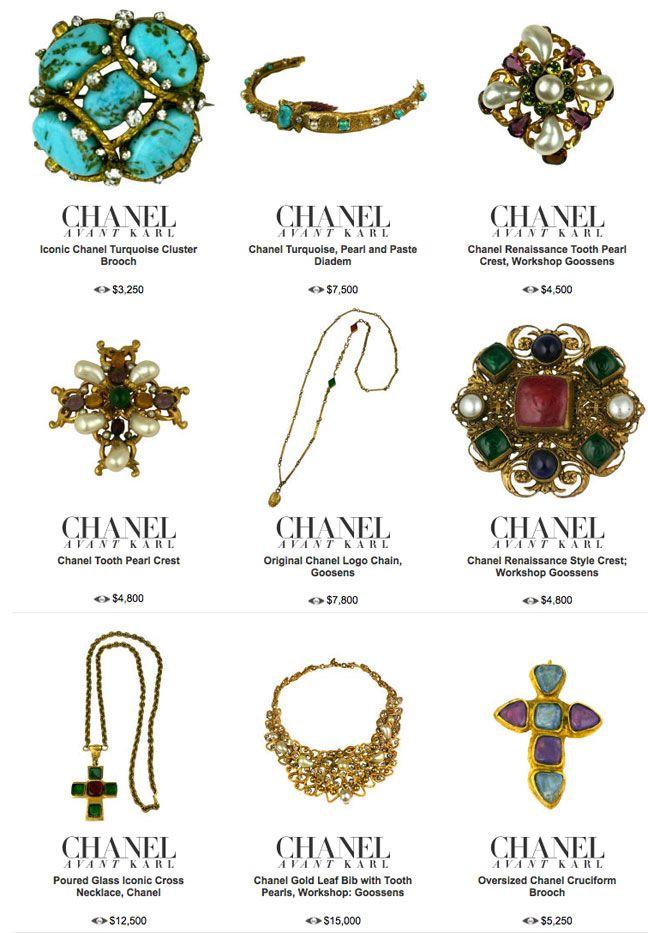 Rare Period Chanel Costume Jewelry 1stdibs Chanel Costume