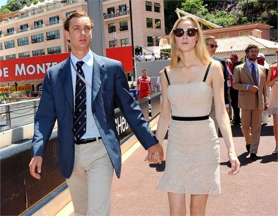 25 May 2014 - Pierre Casiraghi and Beatrice Borromeo at the Monaco Grand Prix