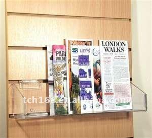Simple Acrylic Wall Mounted Magazine Rack Clear Acrylic Magazine Holder 10 20 Magazine Organization Magazine Holders Clear Acrylic