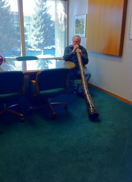 Every lawyer needs to take a break! #California #lawyer, Edward A. Smith of AutoAccident.com learns to play the #didgeridoo.