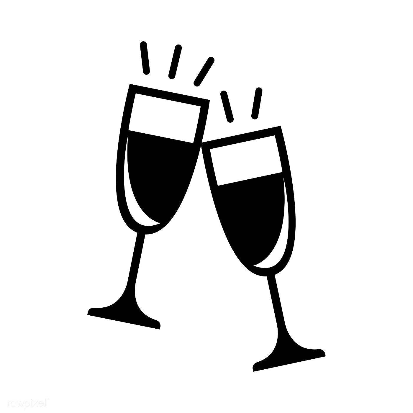 Two Champagne Glasses Graphic Illustration Free Image By Rawpixel Com Manotang Graphic Illustration Champagne Glasses Beer Illustration