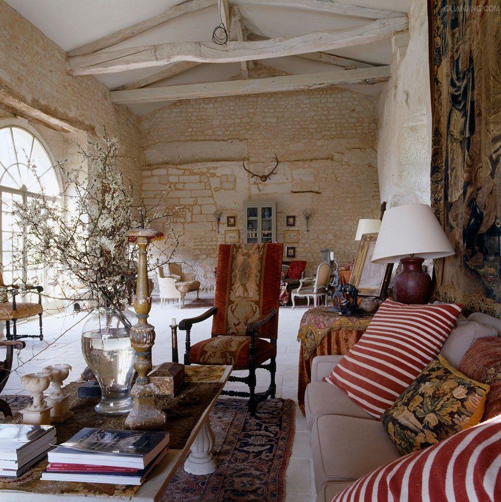 France Home Of David Hare Designer  Charming French  Pinterest Prepossessing French Design Living Room Inspiration Design