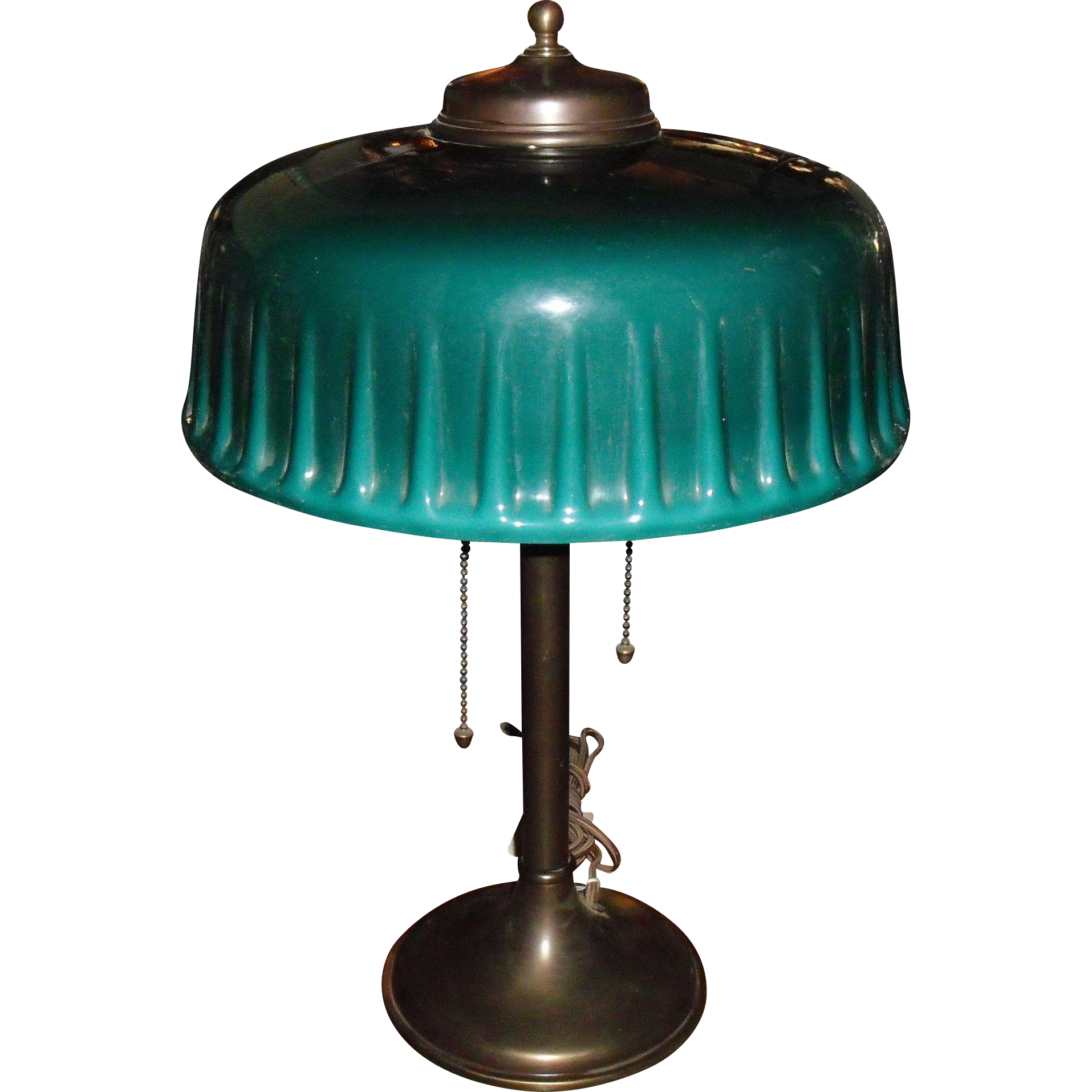 Emeralite desk or table lamp with green cased shade desks emeralite desk or table lamp with green cased shade aloadofball Choice Image