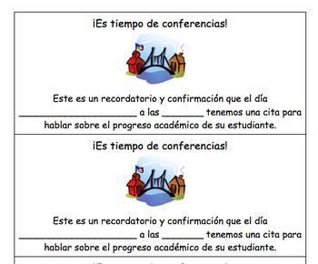 parent teacher conference reminder