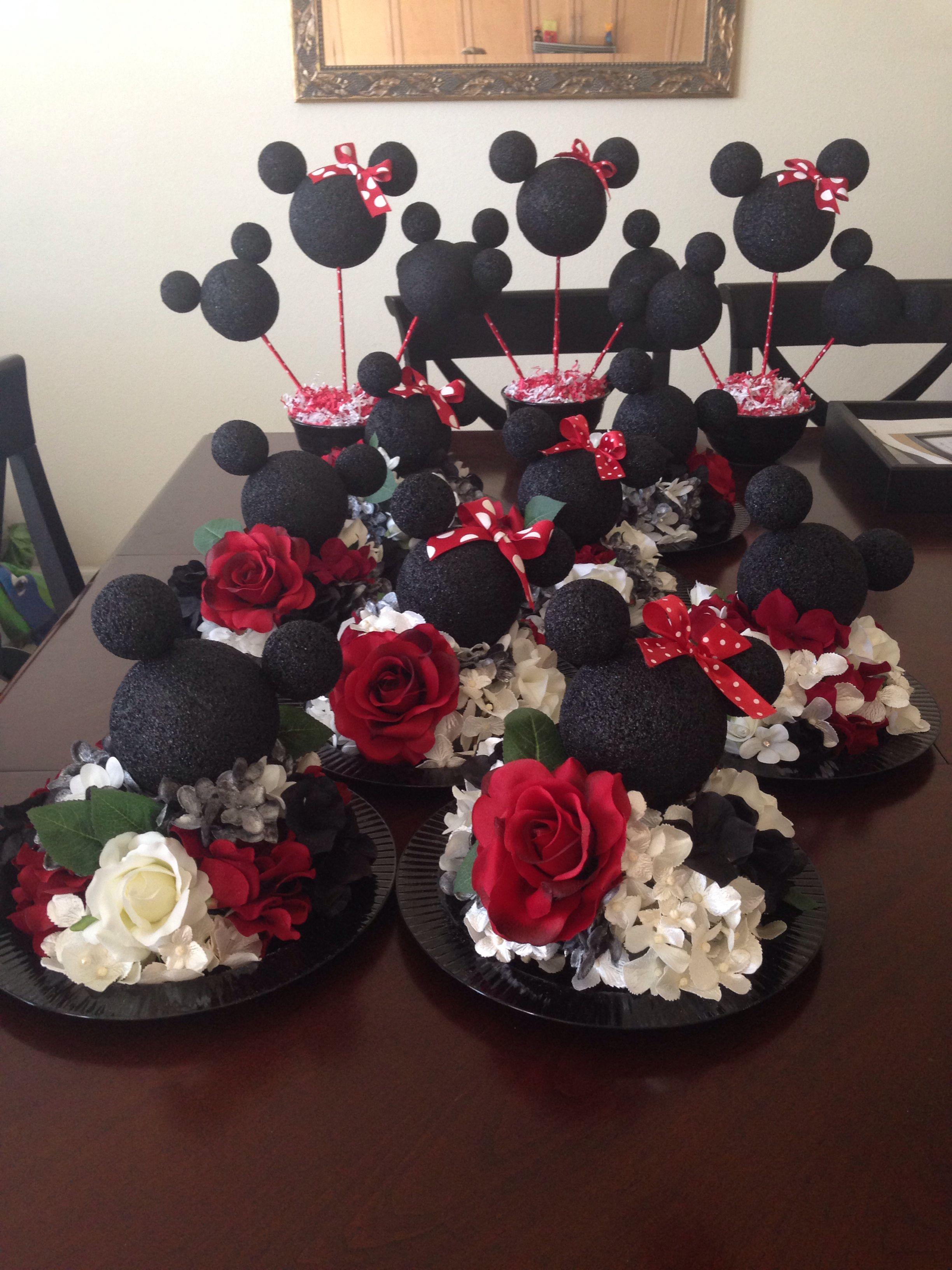 mickey and minnie wedding decorations. disney theme