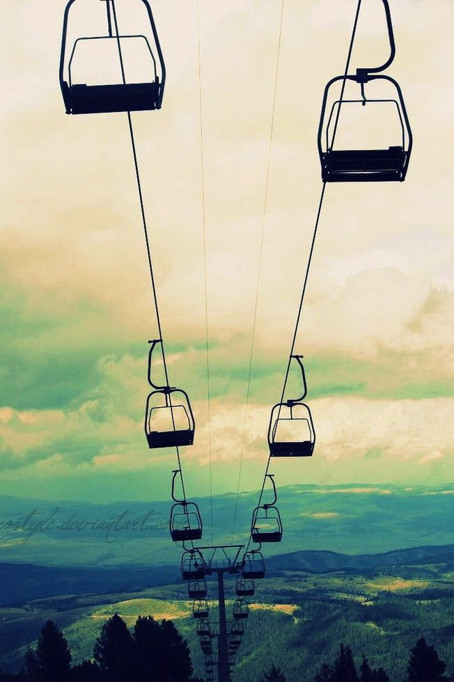 Chair Lift Iphone Wallpaper Skiing Ski Trip Ski Lift