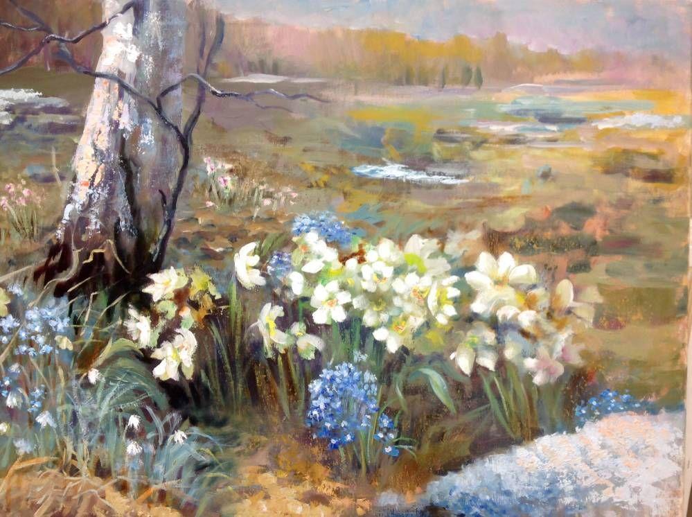 зонтики весна долгожданная картинки живопись старшей школе